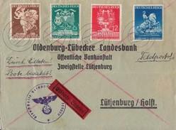 DR Brief Feldpost Eilbote Mif Minr.768-771  Gelaufen Nach Lütjenburg 23.3.41 - Briefe U. Dokumente