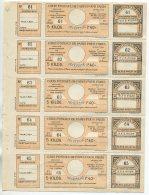 Colis Postaux De Paris Pour Paris  N° 132  1F40  Orange Bloc De 5, Pour Colis En Correspondance (chemins De Fer)