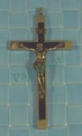 Croix -   Croix Pectorale De Religieuse , Crome Et Ebene -  14.5 X 7 X 1.75 Cm , 28 Oz, 81 Gr 3 Scans