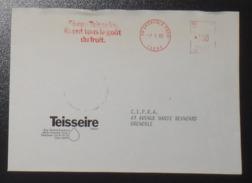 Lettre EMA Sirops Teisseire 7 Janvier 1982 Grenoble 38_ Thème Pub Boissons - Marcophilie (Lettres)