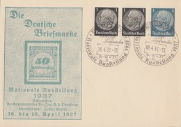 DR Privat-GS Minr. PP137 C1 SST Berlin 18.4.37 - Briefe U. Dokumente