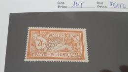 LOT 344294 TIMBRE DE FRANCE NEUF** N°145 VALEUR 150 EUROS