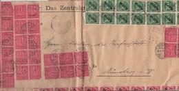 DR Dienst Brief Mif Minr.104x D74,53x D78,14x D79 Werl 29.8.23 Gel. Nach Münster Geprüft - Dienstpost