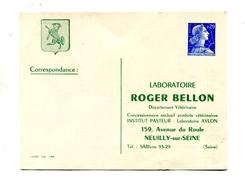 !!! ENTIER POSTAL 20F MARIANNE DE MULLER TSC LABORATOIRE BELLON