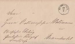 Brief K2 Wennigsen Gel. Nach Hohenbostel Am 20.6.1869 Inhalt
