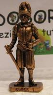 MONDOSORPRESA, KINDER FERRERO (SC35)  SOLDATINI DI METALLO GUARDIE SVIZZERE N° 1 K96 N74, SENZA COSTRUZIONE - Figurine In Metallo
