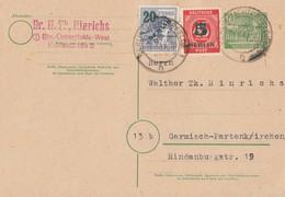 Berlin Ganzsache Zfr. Minr.64,65 Berlin 19.8.49 - Briefe U. Dokumente