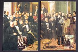 SPAIN 195FOUR MAXIMUM CARDS Spanish Painting. Painter  Antonio María Esquivel