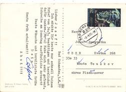 """L3102 - DDR (1977) 832 Bad Schandau 1 (postcard: Sächische Schweiz) Stamp: Jonsdorf """"Small Organ (Kleine Orgel)"""""""