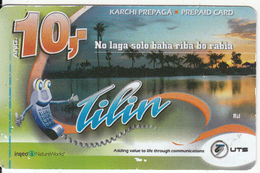 CURACAO - Tilin, UTS Recharge Card 10 Fl, Exp.date 31/12/13, Used - Antilles (Netherlands)