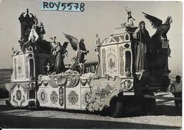 Basilicata-matera Veduta Carro Festa Della Bruna 1961(foto Formato Cartolina V/gg/61) - Matera