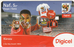 CURACAO - FIFA World Cup 2010, Digicel Prepaid Card NAf. 5, Exp.date 02/02/15, Used - Antilles (Netherlands)