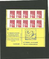 CARNET MARIANNE DE LUQUET RF VARIETE PIQUAGE INVERSE MAURY 531 I G - Libretti