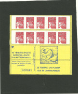 CARNET MARIANNE DE LUQUET RF VARIETE PIQUAGE INVERSE MAURY 531 I G - Carnets