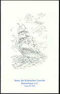 Germany Bremerhaven / Sailing Ship / Birthday Card - Unclassified