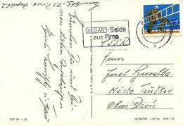 L3110 - DDR (1977) Pirna 1: REGAN (logo) Silk From Pirna (postcard); Stamp: 10 Pf. (Firemen)