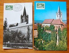 ROMANIA- 4 MAXIMUM CARD-ART-CASTELS-''Old Castels In Transylvania-Romania''
