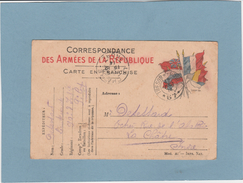 FRANCHISE MILITAIRE : CORRESPONDANCE  . - France