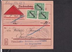 Dienstmarken Deutsches Reich Stempel Wassertrüdingen Nach Gerolfingen 1927