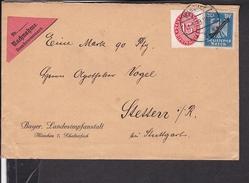 Dienstmarken Deutsches Reich Stempel München Nach Stetten 1929
