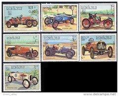 560 Laos Voitures De Course Racing Cars Bugatti Delage Daimler MNH ** Neuf SC (L-LAO-61b)