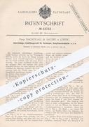 Original Patent - Nachtigall & Jacoby , Leipzig  1891 , Entlüftungsventil Für Heizkörper , Dampfwasserableiter | Heizung - Historische Dokumente