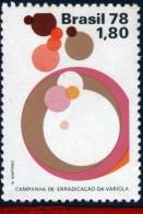 Ref. BR-1565 BRAZIL 1978 HEALTH, SMALLPOX ERADICATION,, MI# 1659, MNH 1V Sc# 1565