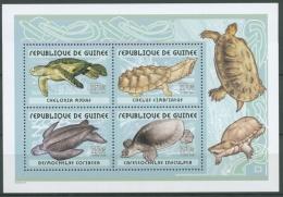 Guinea 2001 Reptilien Schildkröten Block 675 A Postfrisch (C24094) - Guinea (1958-...)