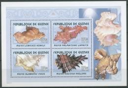 Guinea 2001 Weichtiere Meeresschnecken Block 680 A Postfrisch (C24093) - Guinea (1958-...)