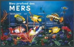Guinea 2001 Meerestiere Fische Korallen Qualle 2965/70 K Postfrisch (C24072) - Guinea (1958-...)