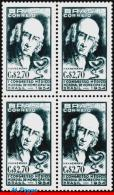 Ref. BR-810-Q BRAZIL 1954 - DR.HAHNEMANN, WORLD CONG., OF HOMEOPATHIC MEDICINE, HEALTH, MNH, FAMOUS PEOPLE 4V Sc# 810