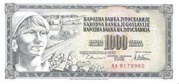 Yugoslavia - Pick 92c - 1000 Dinara 1978 - Unc - Jugoslavia