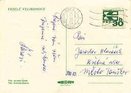 L3135 - Czechoslovakia (1977) 760 02 Gottwaldov 2 (machine Postmark); Postcard; Tariff: 30 H (stamp: ZIP Code)