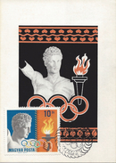 HUNGARY-1969.Maximum Card Souv.Sheet - Hungarian Medallists At Olympic Games Mexico City Mi:Bl.69. - Tarjetas – Máximo