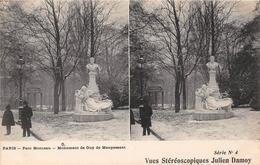 PARIS -  Parc Monceau - Monument De Guy De Maupassant - Vues Stéréoscopiques Julien Damoy - Parcs, Jardins