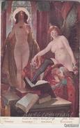 "NU_NUE_NUS_NUDE_NAKED WOMAN-NUDI ARTISTICI-""Temptation"" ANDRE' LUPIAC Pinxit_Serie N°158-Original D'epoca100% - Paintings"
