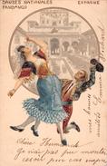 * Espagne- Danses Nationales FANDANGO Couple Espagnol Dansant 1902 - Autres