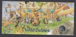 Australia 2001 Wild Babies - Miniature Sheet Postally Used