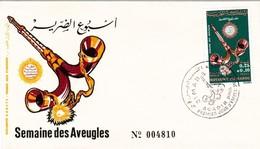 Maroc 1er Jour FDC YT 634 Semaine Des Aveugles Mizmar Agadir  31/03/72