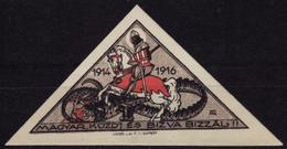 1914 1916 Hungary - WAR Propaganda WWI - Triangle CINDERELLA LABEL VIGNETTE - Soldier Knight Horse Dragon - MNH