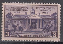 UNITED STATES     SCOTT NO. 835     MNH     YEAR  1938 - Nuevos