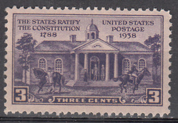 UNITED STATES     SCOTT NO. 835     MNH     YEAR  1938