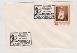 COVER PAINTING ROMANIA- 150 YEARS OF BIRTH PAINTER NICOLAE GRIGORESCU( 1838-1907)- - 1988