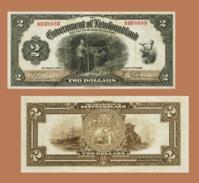 NEWFOUNDLAND 2   DOLLAR  1920 - Copy- Replica - Kanada