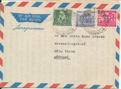 India Aerogramme Sent To Denmark 24-4-1972 - Aerograms