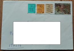 405  Busta Ambasciata Italiana Gabon 1993 Trapping 300 Fr E 1994 Mother And Child 5,10 E 75fr - Gabon (1960-...)