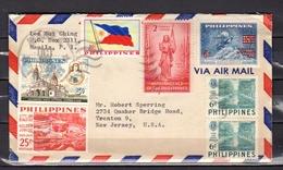 Nice Franking UPU,flag,, Independence, LIONs Club 1959 > Trenton USA - Filippijnen