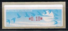 ATM, LISA1, DEFAUT MAJEUR D' IMPRESSION, 0.10, Oblitéré Tours 26/03/1999, Papier Jubert Bleu Turquoise