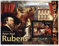UGANDA 2012 - P.P. Rubens, Cat - YT BF374, Mi Bl.383, Sc 1965
