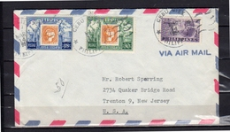 CEBU CITY! Nice Franking 1955 > Trenton USA - Filippijnen